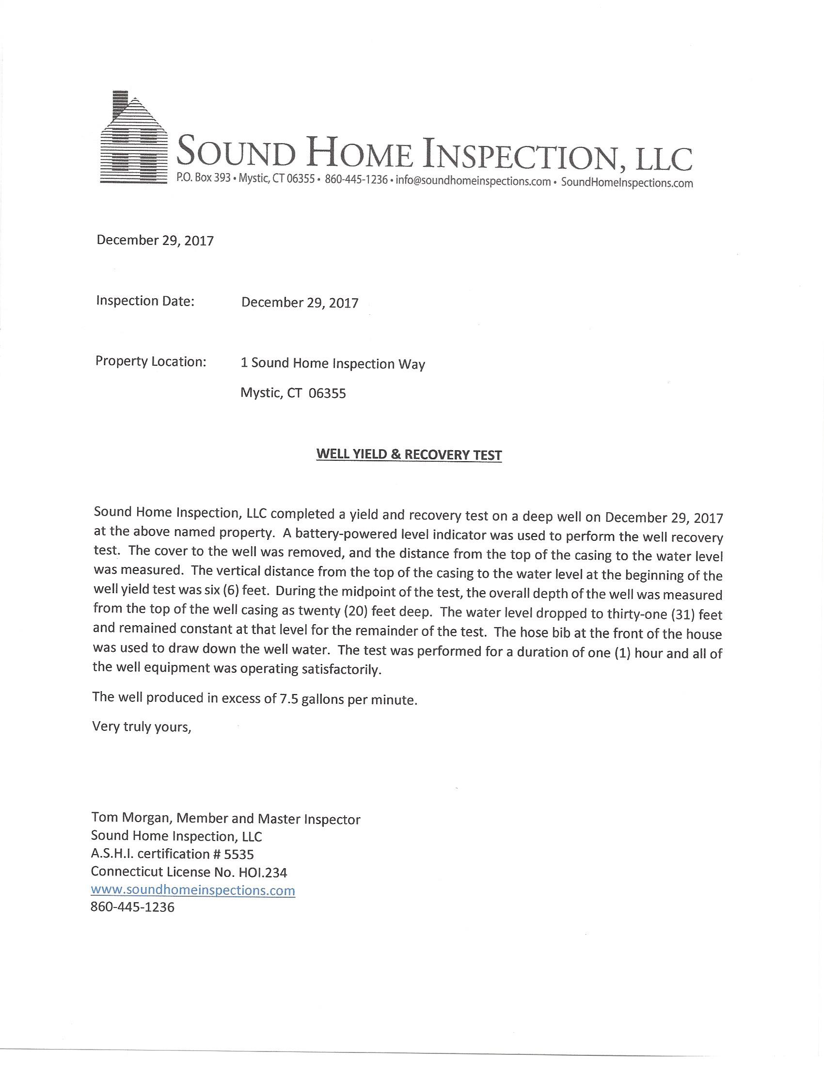 Sample Reports And Pictures  Sound Home Inspections Inc  Ct And Ri